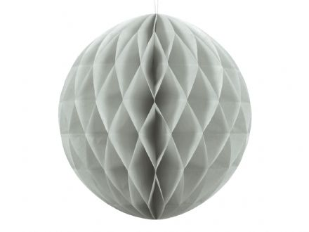 Light Grey Honeycomb Ball Decoration - 30cm